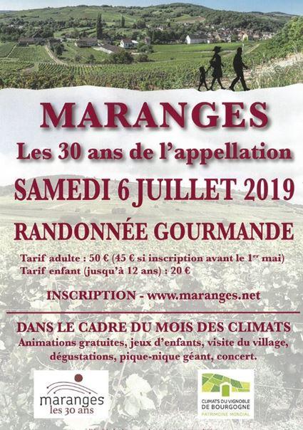 Ballade gourmande dans les Maranges le 06 Juillet 2019